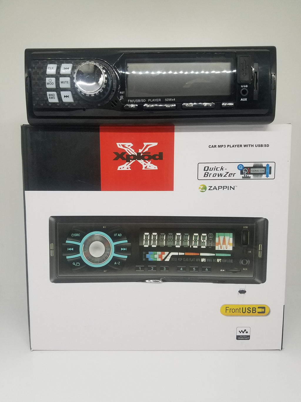 Radio para Carro con funcion de FM, Aux, Bluetooth, USB y Micro SD