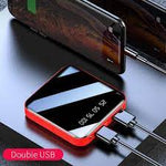 Power bank cargador portatil de 10000 mAh, incluye cables de carga