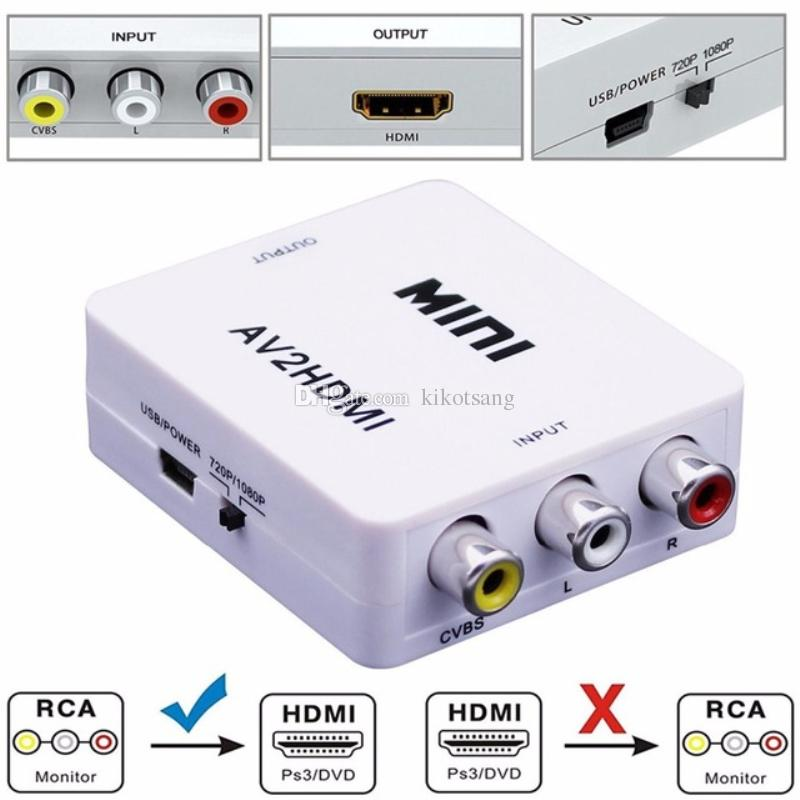 Convertidor adaptador HDMI a RCA (audio y video)