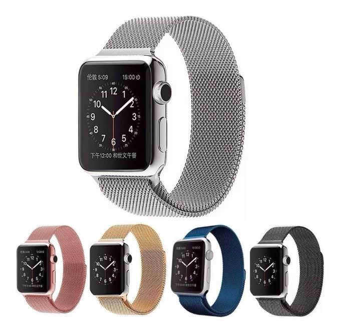 Correa de metal milanesa para Apple Watch band