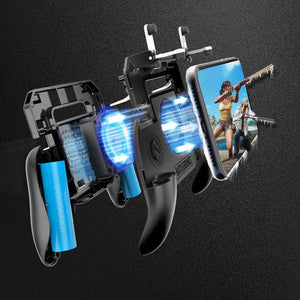 Gamepad con fan cooler y gatillos L1 R1 ideal para jugar PUBG Free Fire y Fortnite