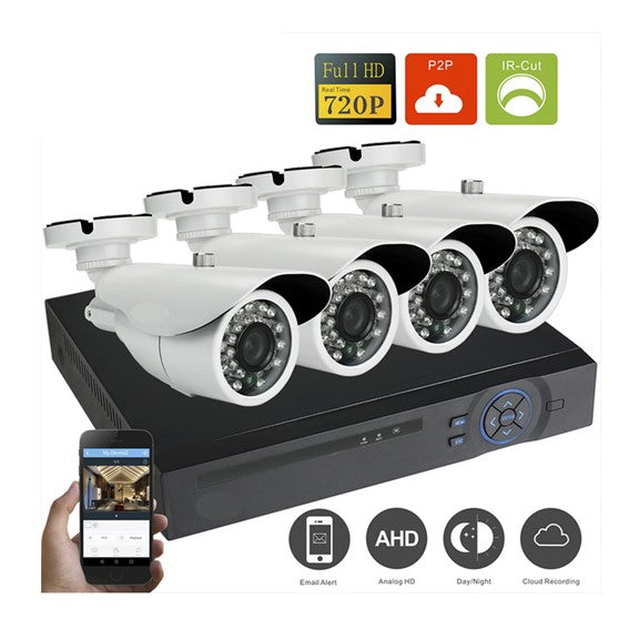 KIT de 4 Camaras de seguridad CCTV + DVR + Cables + Mouse