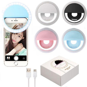 Selfie ring light (anillo de luz)