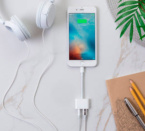 Adaptador de audio y carga para iphone 7, 7 plus, 8, 8 plus, X, XR, XS MAX