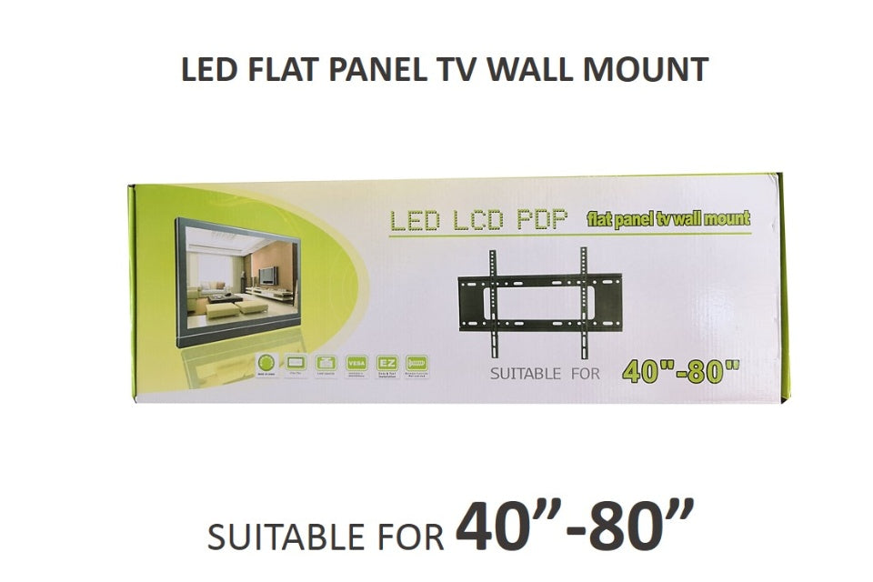 "Base para Pared Fija Televisor Tv 40""-80"""