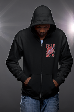 Cycle Godz Heavy Blend Full Zip Hooded Sweatshirt