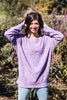 Purple Cozy Crew Sweatshirt
