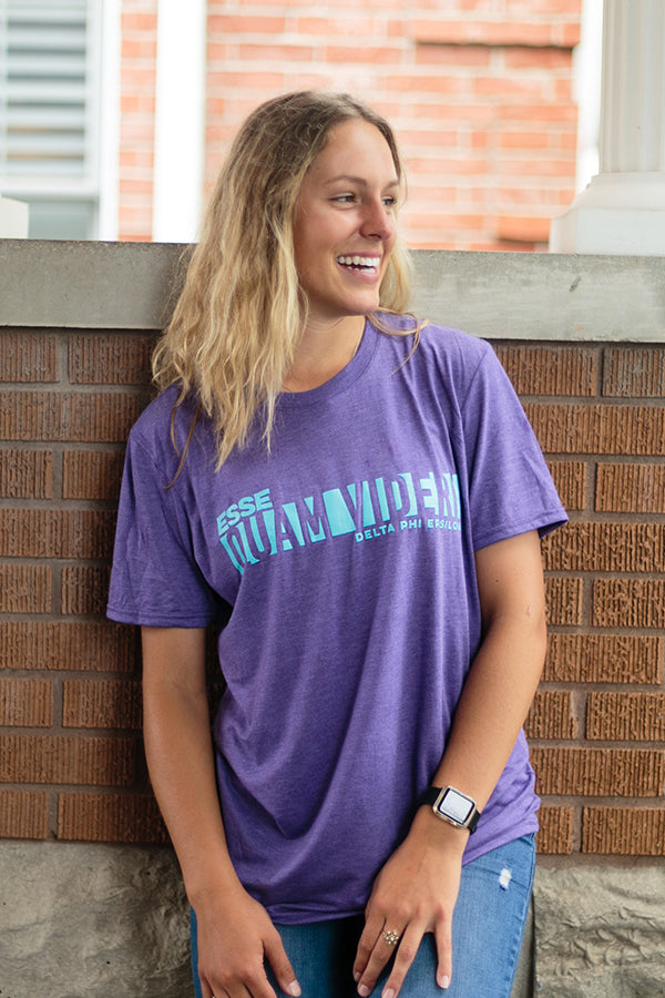 Heather Purple Short Sleeve