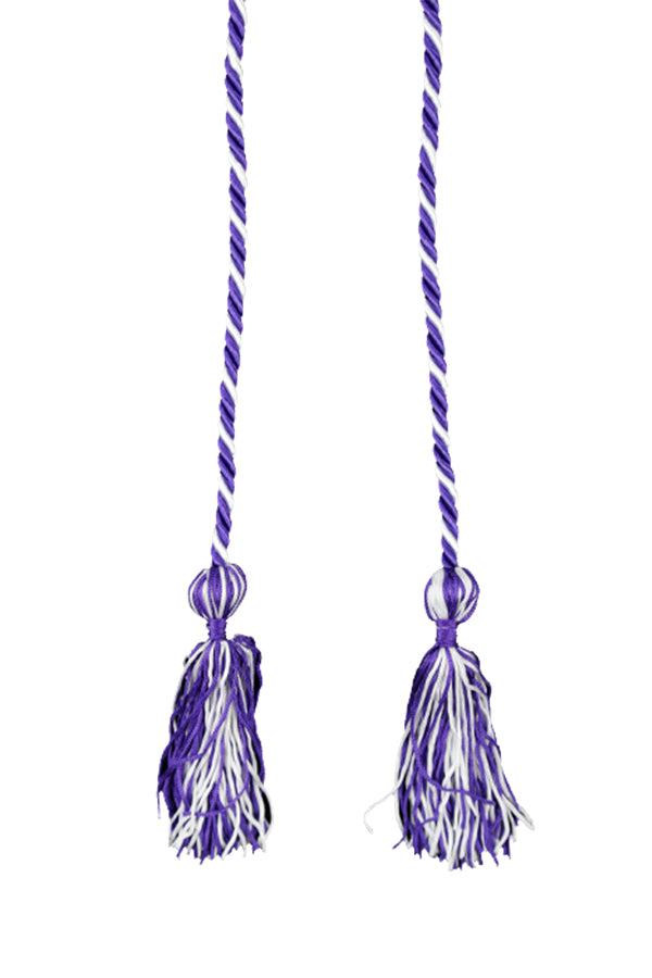 Purple and White Graduation Cord