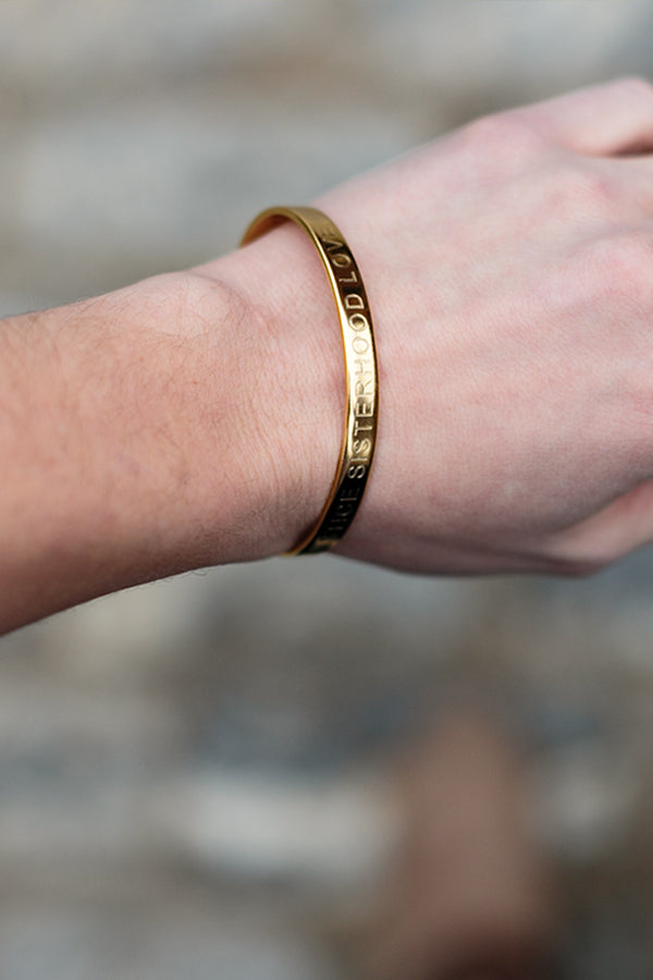 Justice, Sisterhood, Love Gold Bracelet