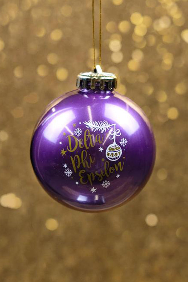 Purple Holiday Ornament