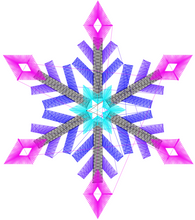 Load image into Gallery viewer, Downloadable Snowflake Embroidery File ❅❆❅ Diamond ❅❆❅ - taylorsprinkle.com