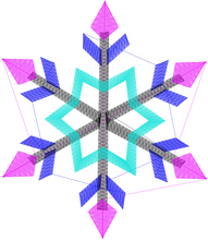 Load image into Gallery viewer, Snowflake Embroidery File Download Set of 4 ❅❆ - taylorsprinkle.com
