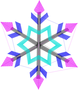 Snowflake Embroidery File Download Set of 4 ❅❆ - taylorsprinkle.com