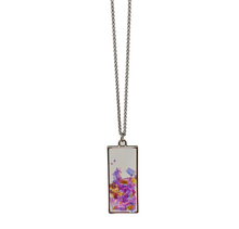 Load image into Gallery viewer, Handmade Ice Crystal Flake Rectangle Necklace - taylorsprinkle.com