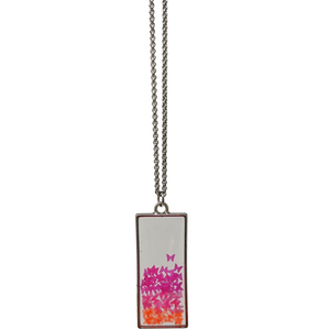 Handmade Butterfly Flake Rectangle Necklace - taylorsprinkle.com