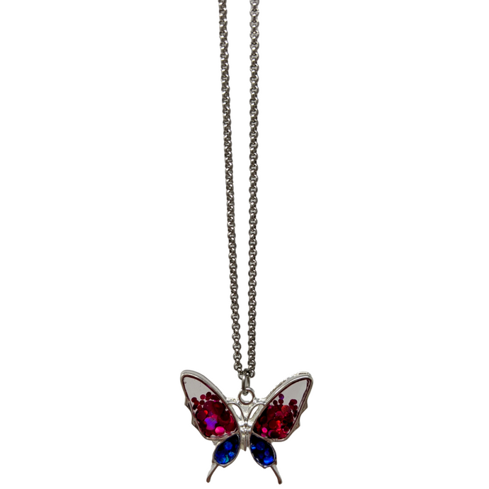 Handmade Holo Butterfly Necklace - taylorsprinkle.com