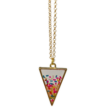 Load image into Gallery viewer, Handmade Gold Sprinkle Confetti Necklace - taylorsprinkle.com