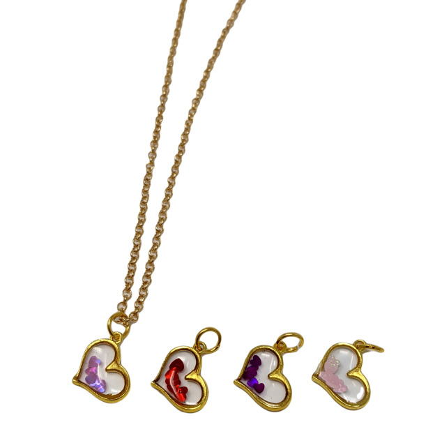 Handmade Gold 5 PC Heart Micro Necklace Set ♡ - taylorsprinkle.com