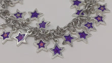 Load and play video in Gallery viewer, Handmade Silver Star Charm Bracelet ☆