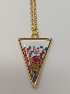 Handmade Gold Sprinkle Confetti Necklace - taylorsprinkle.com