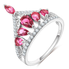 Load image into Gallery viewer, Hollow Crown Pink Flower Shape Ring ♡ - taylorsprinkle.com