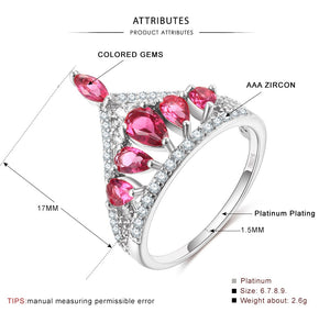 Hollow Crown Pink Flower Shape Ring ♡ - taylorsprinkle.com
