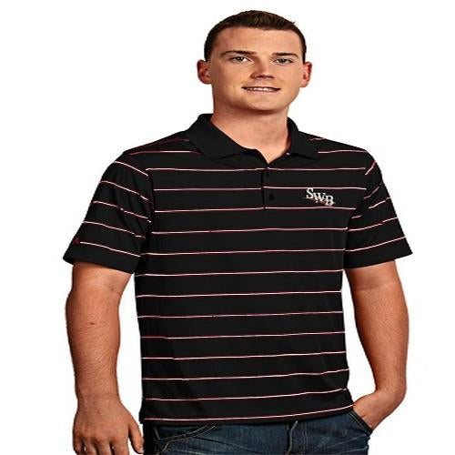 Antigua Men's Black Deluxe Polo
