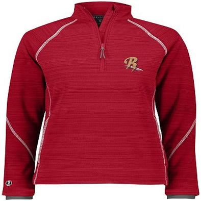 Scranton/Wilkes-Barre RailRiders Holloway Women's Deviate 1/2 Zip Pullover Red