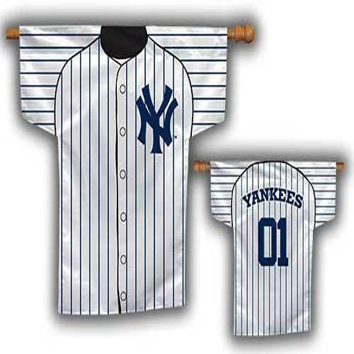 Yankees 2-Sided Jersey House Flag