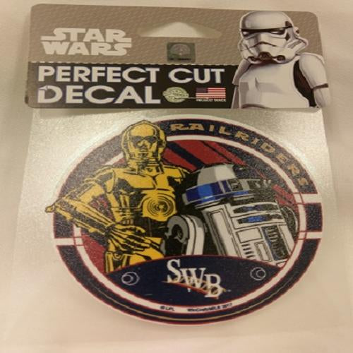 "Scranton/Wilkes-Barre RailRiders Star Wars 4"" x 4"" Perfect Cut Decal"