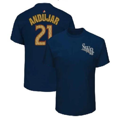 Scranton/Wilkes-Barre RailRiders #21 Miguel Andujar RailRiders Player T-Shirt