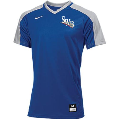 Scranton/Wilkes-Barre RailRiders Youth NIKE Vapor Dri-Fit Game Top Royal