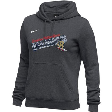 Scranton/Wilkes-Barre RailRiders NIKE Women's Club Fleece Hoody Anthracite
