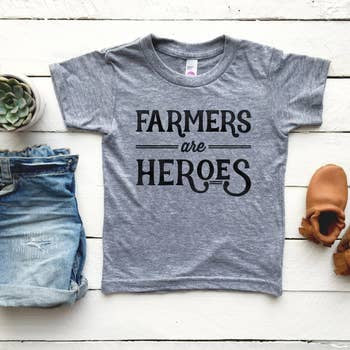 Farmers Are Heroes Tee | Gray
