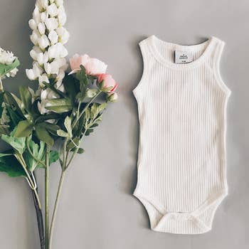 Ribbed Sleeveless Bodysuit - Milk
