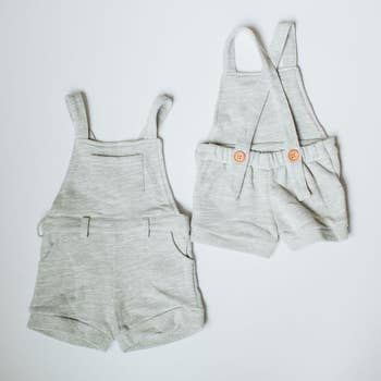 Short Overalls - Heather Gray