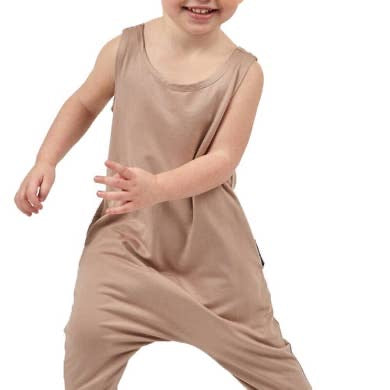 Taupe Mini Toddler Romper