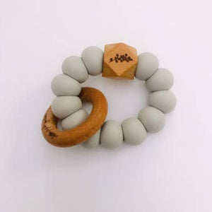 Austin Teether || Silicone + Natural Wood