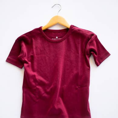 Organic Slouch Dress | Maroon