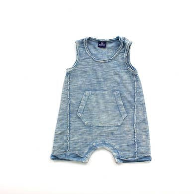 Dusty Blue Colby Baby Romper