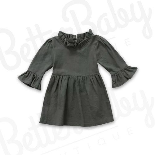 Olive Baby Dress