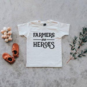 Farmers Are Heroes Tee | White