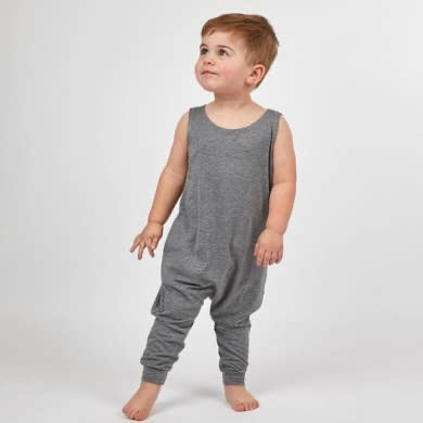 Gray Mini Toddler Romper