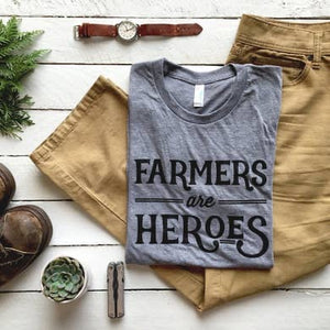 Farmers Are Heroes | Adult Crew Neck