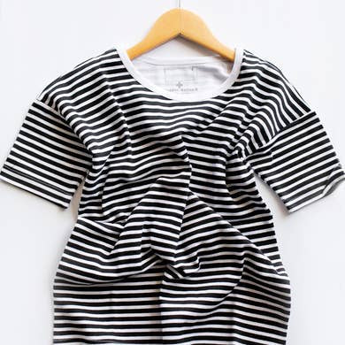 Organic Slouch Dress | Stripes