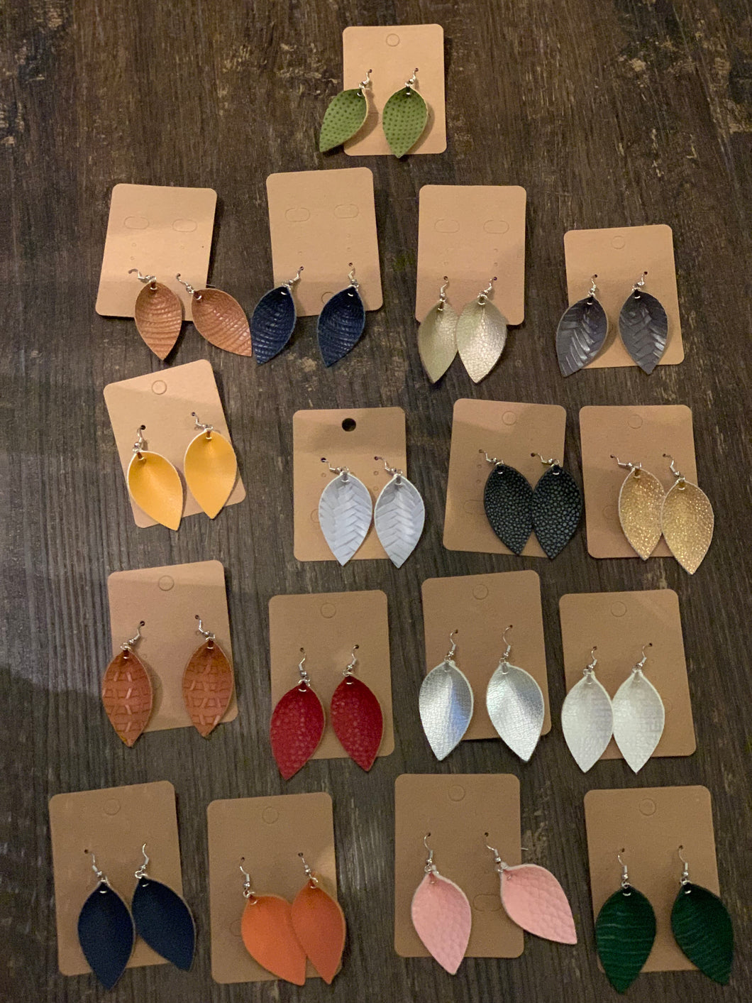 Girl's Folded Teardrop Earrings