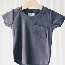Load image into Gallery viewer, Ribbed Pocket Tee - Charcoal