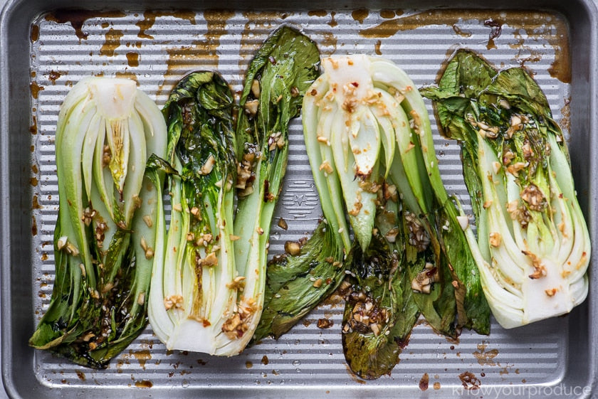 Ginger Roasted Bok Choy