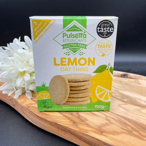 Pulsetta Gluten Free Lemon Oat Thins